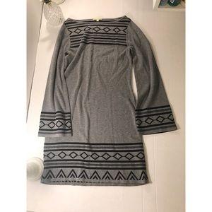 Grey Gianni Bini Bell Sleeve Sweater Dress Size XS
