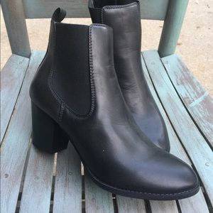 Women's Bass Black Ankle Boots Size 9.5M NEW