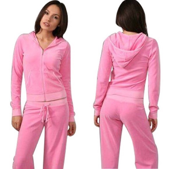 49992bcb39f2 Juicy Couture Tops - Pink Juicy Couture Velour Sweatsuit