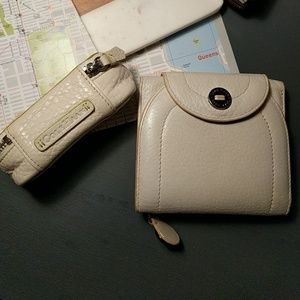 Cole Haan white leather wallet.