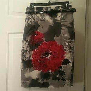Bisou Bisou Floral Pencil Skirt