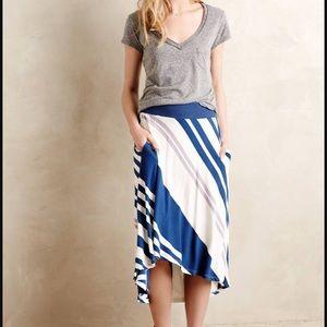 Bordeaux Seaside Midi Skirt
