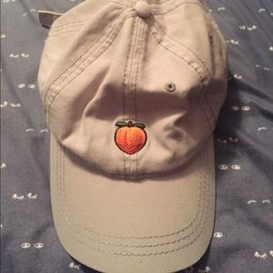 b8132c3a79ba7 American Eagle Outfitters Accessories - AEO  keeping it peachy  peach emoji  hat 🍑