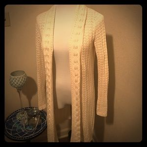 Cream crochet cardigan! Perfect for fall! ❤️🍁
