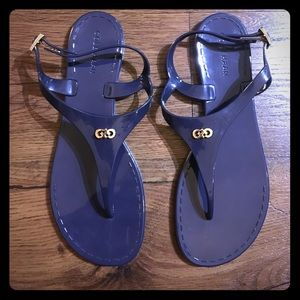 Cole Haan Miley Navy Blue Jelly Sandals Size 8
