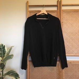 Hugo Boss Piceno Half Zip Black Sweatshirt