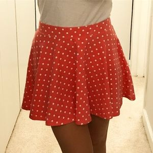 Aeropostale Pink Polka Dot Skirt