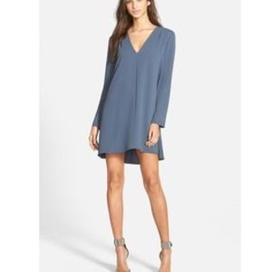 ASTR Blue Long Sleeve Dress