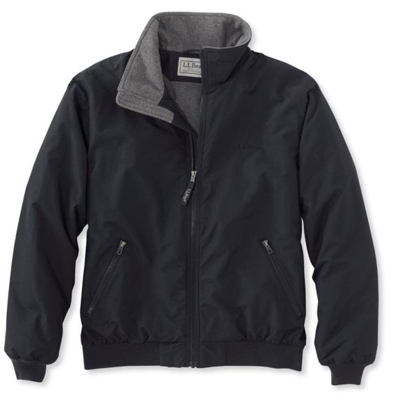 Ll Bean Fleece Lined Warm Up Jacket