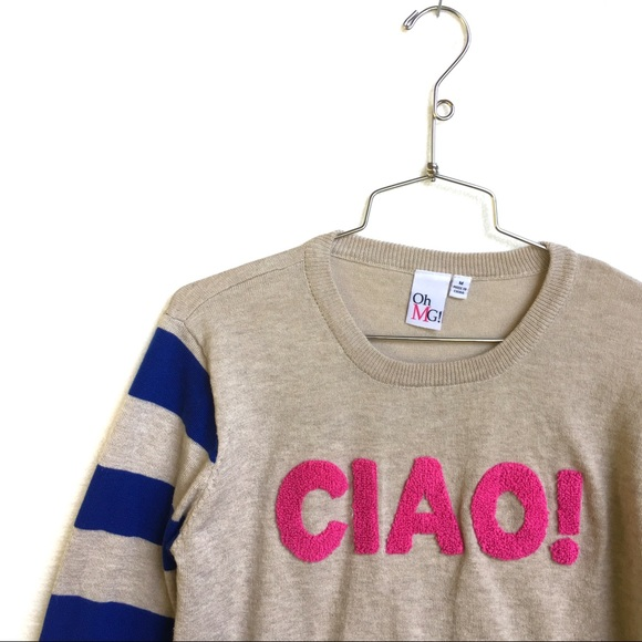 ohMG - CIAO Graphic seeater in pink and blue stripes from ...