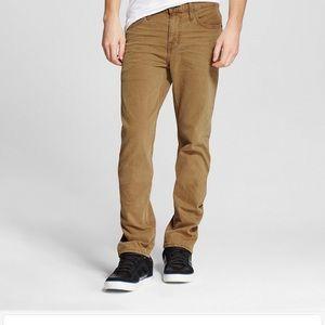 Mossimo Men's 34x30 Slim Straight Jeans in Carmel