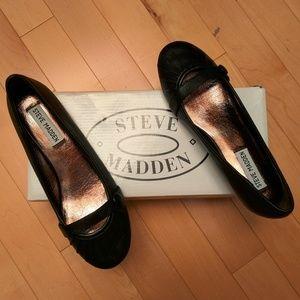 NWB Steve Madden Leather Wedge Heel Ballet Flats
