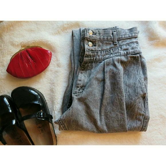 aef7e6966fa Lee Denim - Vintage Lee Pleated Sailor Hi-Waist Mom Jeans 12