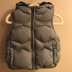 Baby Boy Grey Quilted Vest Zara size 6-9M.