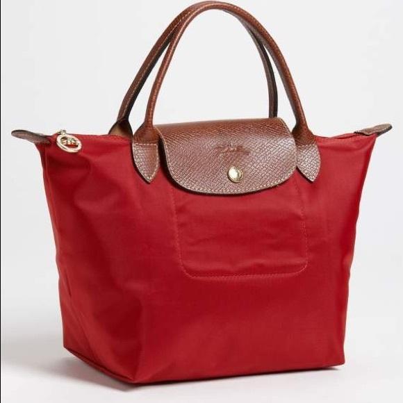 195956eb5c7c Longchamp Handbags - Longchamp Le Pliage Red Garance Tote
