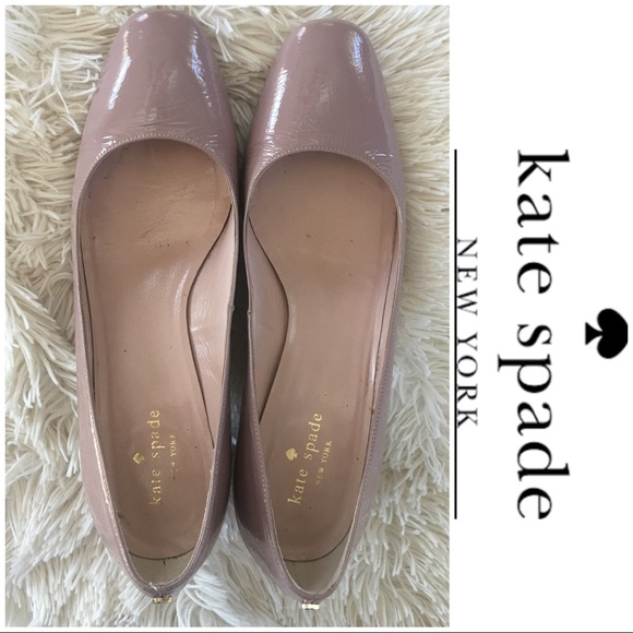 5c6999c12a2 kate spade Shoes - Kate Spade patent leather nude block heels.