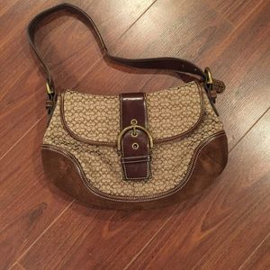 Coach brown leather bag!