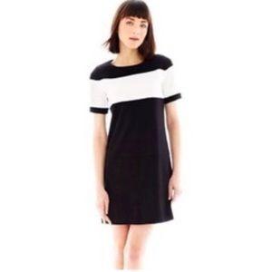 Joe Fresh Black & White Color Black Shift Dress