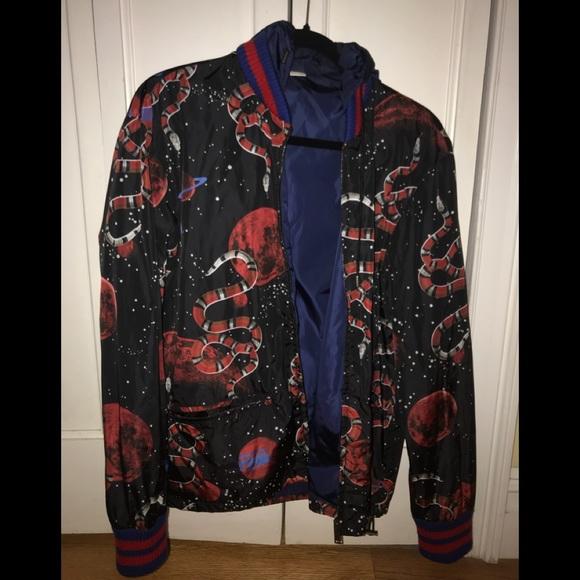 129ccd6f5 Gucci Jackets & Coats | Prefall 17 Rtw Space Snake Windbreaker ...