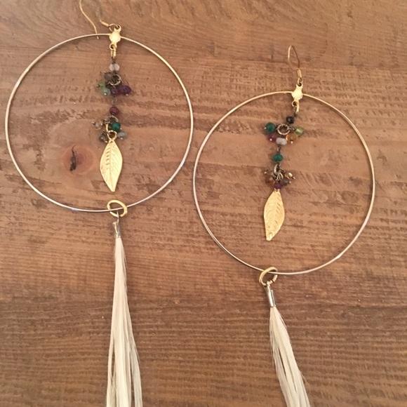 84940b4f5 Ettika Jewelry | Feather And Gold Hoop Earrings By | Poshmark