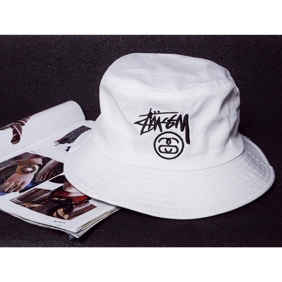 62bd2ba52b6c31 Stussy Accessories | New White Bucket Hat | Poshmark