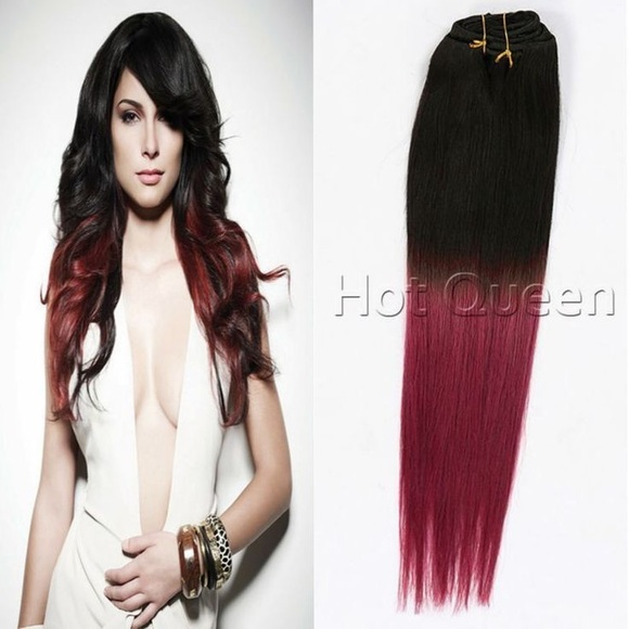 Divine Hair Accessories Ombr Hair Extensions Black Burgundy Weave