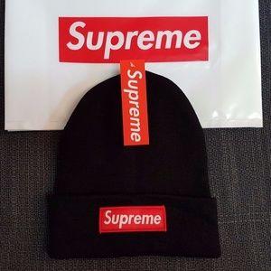 cd26a7b907c14 Supreme Accessories - Supreme Beanie Red Black Gray White Classic Logo