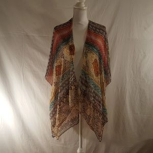 Jackets & Blazers - Sheer wrap Kimono