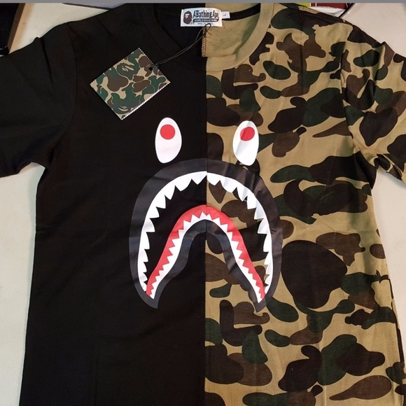 972e6dee1 Bape A Bathing Ape Shirts | Shark T Japan Size | Poshmark