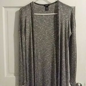 Long gray sweater