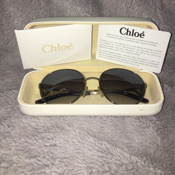 d5df88359d96 Chloe Accessories - Chloe  round metal frame sunglasses