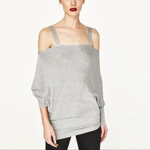 Zara oversized sweater wit cut out shoulder
