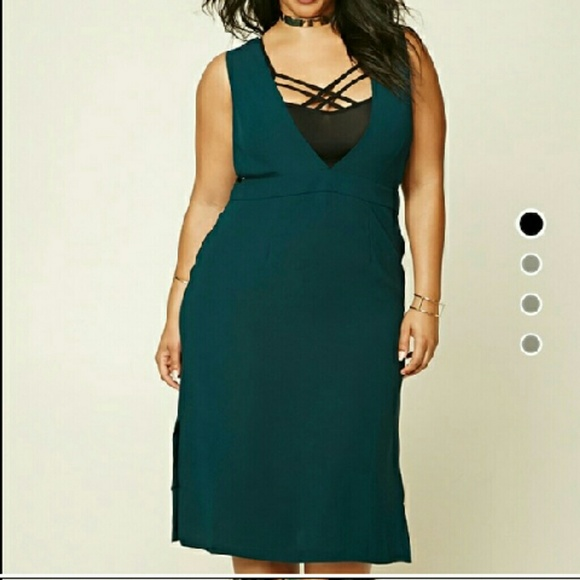 88f1cac0bd0 NWOT Forever 21 Sexy Green Dress 3X
