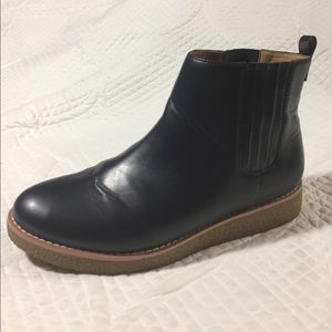 Shoes - Navy Blue Slip On Chukka Boots