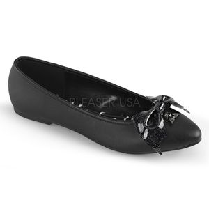 Shoes - Ballet Flats Glittery Bat Bow Shoes Pointy Toe