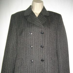 Dark Gray Sisley Double Breasted Medium Jacket
