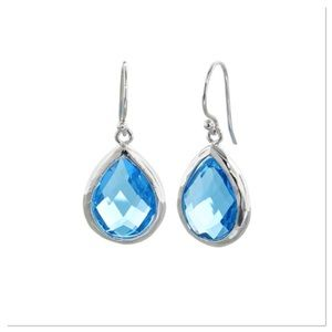Blue Cubic Zirconia Drop Earrings