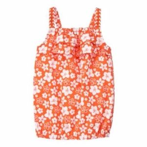New GYMBOREE Surf Adventure Floral Peasant Top NWT
