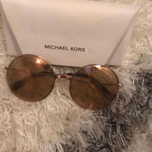 e0a282fbd266 Michael Kors rose gold Retro Round Sunglasses. M_59cb843213302a04f30fea2f