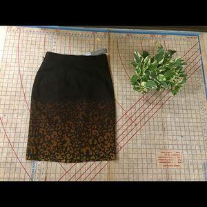 NWT Classiques Entier ombré leopard skirt size 8