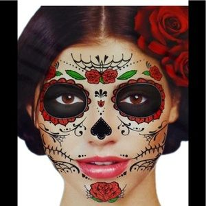 Makeup | Day Of The Dead Temporary Tattoos | Poshmark
