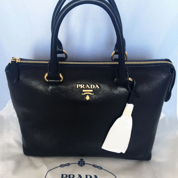 7073555262d4 PRADA 1BA063 2-way Satchel Crossbody Bag Black