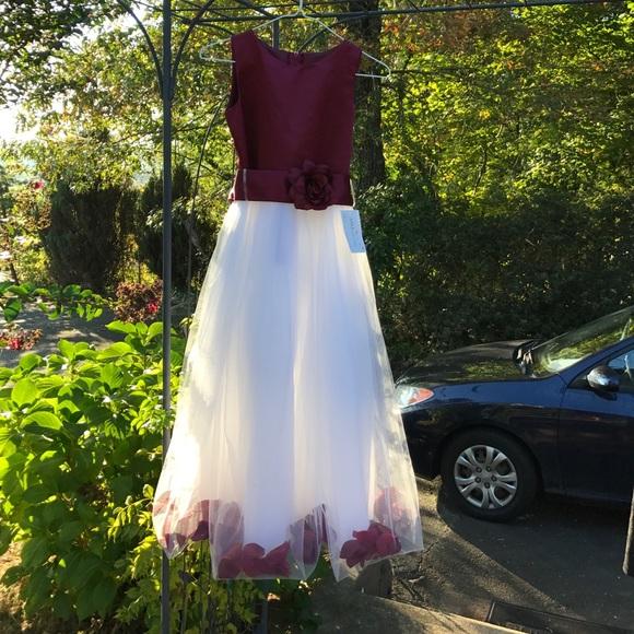 2f0b5e2b41a AMJ Dresses Dresses   Nwt Burgundy Flower Girl Dress Size 12   Poshmark
