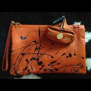 Handbags - Italian leather purse & coin purse from Rome