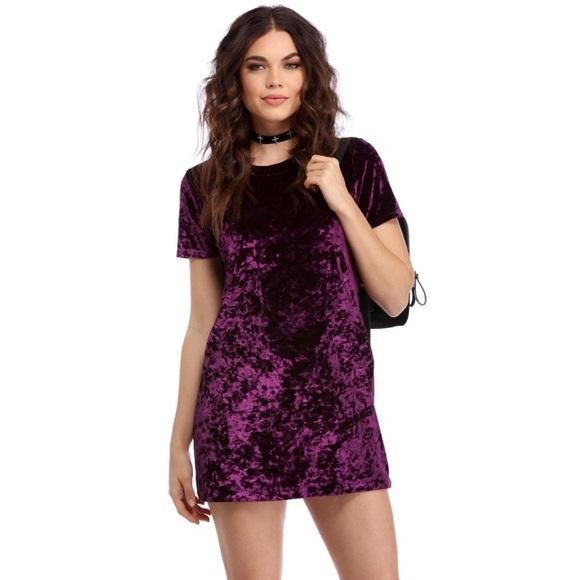fee778e8e5 Windsor Dresses | Crushed Velvet Tshirt Dress | Poshmark