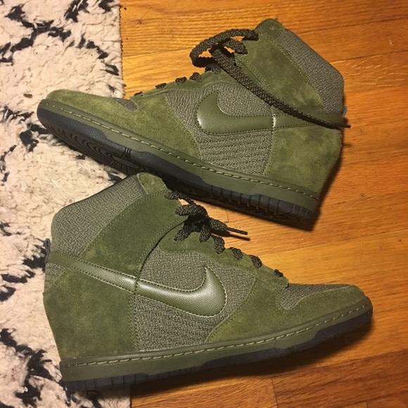 NEW Nike Dunk Sky Hi Wedge Sneaker Sz 10