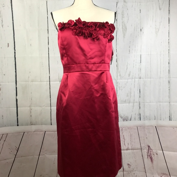 203260fac6f Antonio Melani Burgundy Padded Strapless Dress NWT