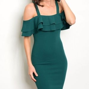 NEW JUST IN OFF SHOULDER BODYCON DRESS