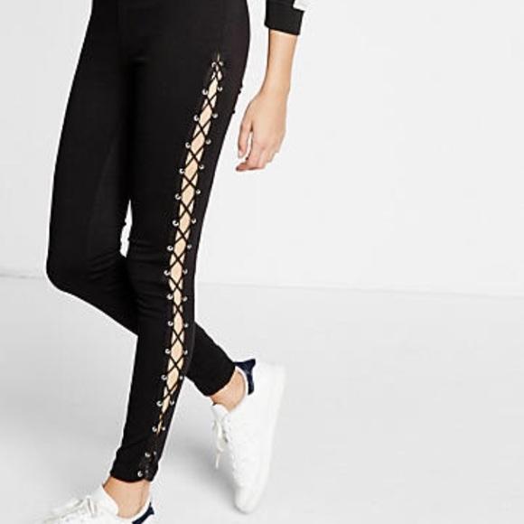 1b8aa8dbaf2bc Express lace up side leggings. M_59cba1af4127d069d80fecb2