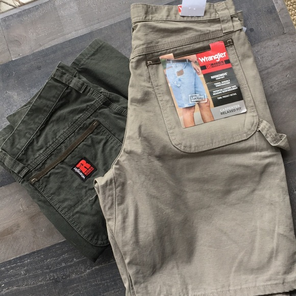 wrangler shorts two pair riggs workwear carpenter poshmark